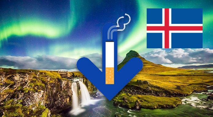 smoking rate decreased in iceland