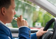 vaping while driving pic