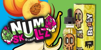 Review – Num Skullz Eliquid _ Beachy