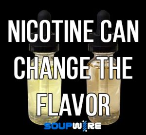 nicotine can change vape juice flavor