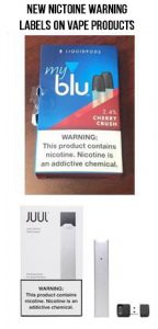 nicotine addiction warning labels