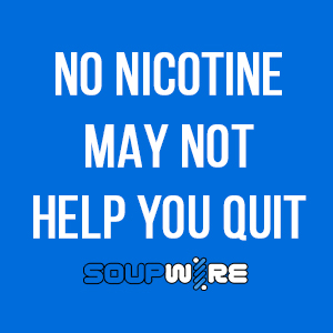No Nicotine vape juice may not help you quit smoking.