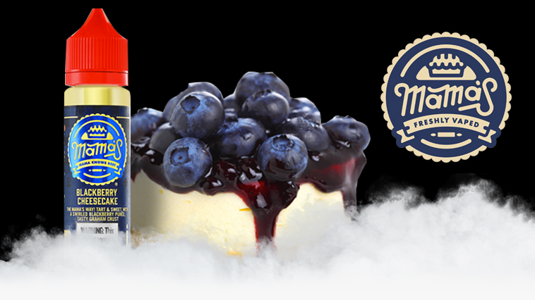 Vape Juice Review | Blackberry Cheesecake by Mama's Eliquid - Soupwire